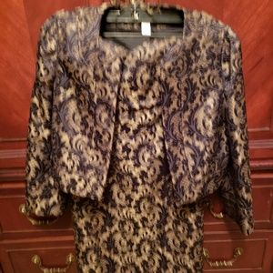 EUC Ann Taylor Loft Coctail dress & bolero